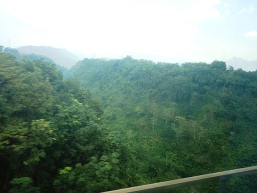 salah satu pemandangan dari dalam kereta argo parahyangan