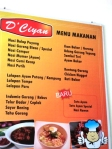 daftar makanan
