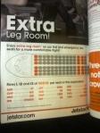 1.bayar extra leg room