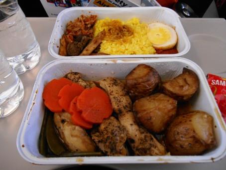 nasi kuning dan ayam lada hitam @mandalatiger