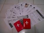 tiket dan paspor