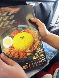 nasi kuning di brosur