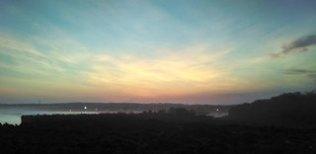 sunset @pantai nusa dua