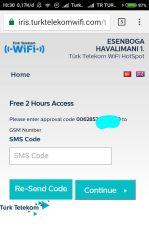 Free WIFI Ankara Esenboga Airport