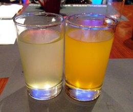 jus lemon dan jus jeruk