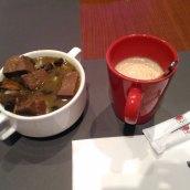 sayur sulung dan cappucino