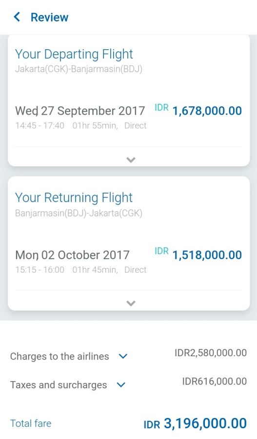 harga di website Garuda Indonesia