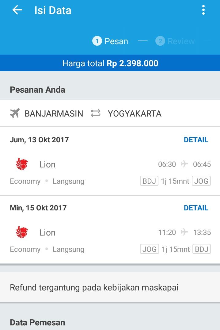 Tiket Lion Air Yogyakarta Banjarmasin Asambackpacker01 S Blog