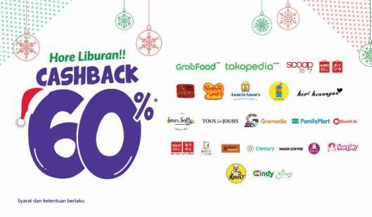 banner promo akhir tahun cashback 60%