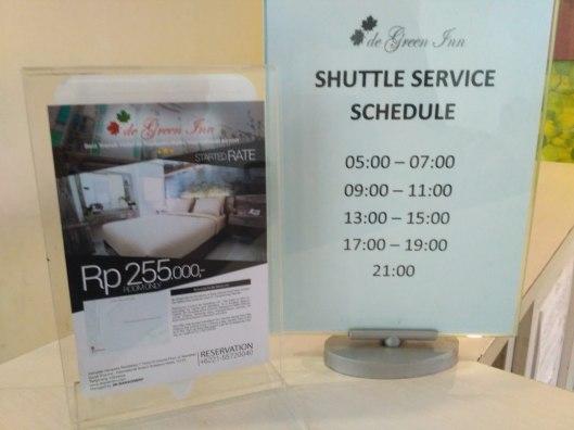 tarif dan jadwal shuttle