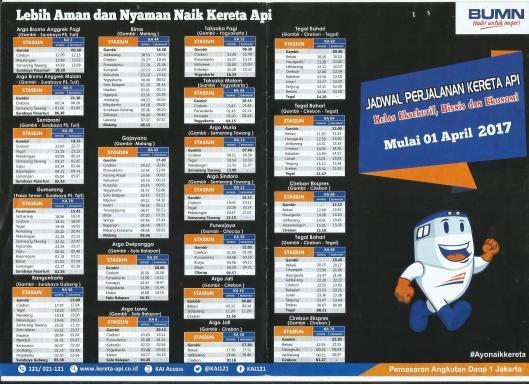 jadwal kereta api indonesia 2018