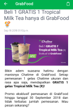 buy1 get1 free chatime