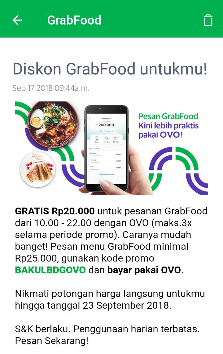 Promo Grab Food Ovo Oktober 2019 Promo Gofood