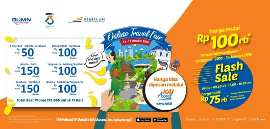 KAI Online Travel Fair 13-17 Oktober 2018