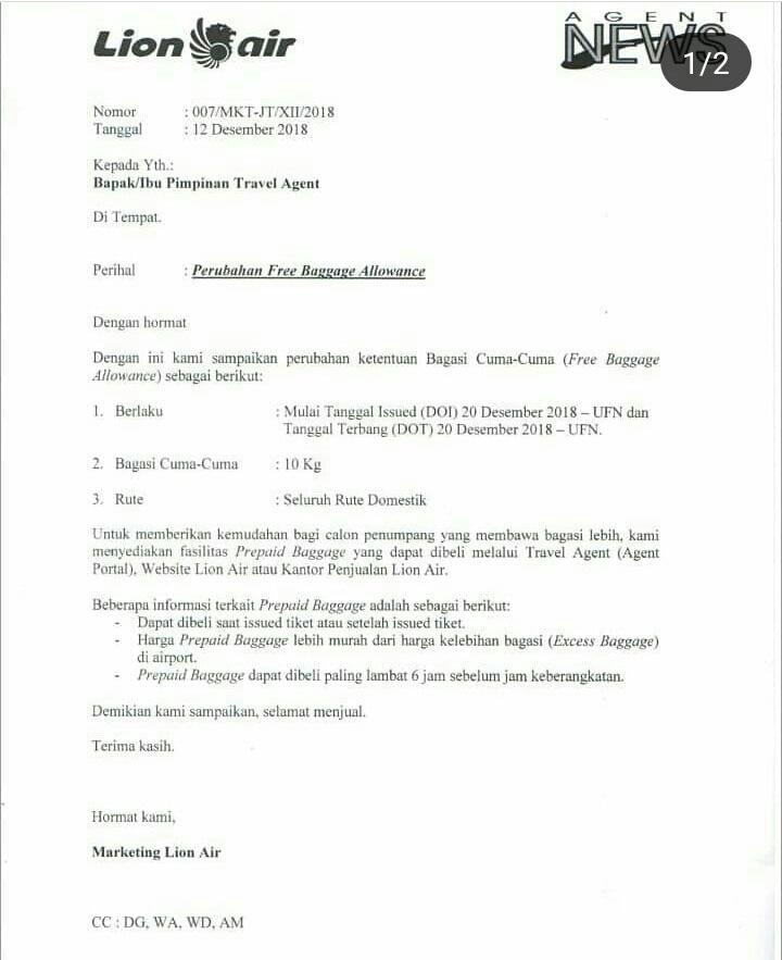 Perubahan Jatah Bagasi Lion Air Asambackpacker01 S Blog