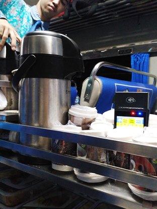 chart food beverage + EDC kereta api