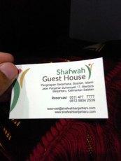 kartu nama shafwah