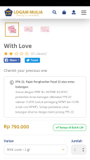 harga gift with love 0,5 gr