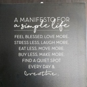 a manifesto of simply life