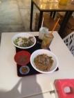 kolo mee daging, ayam pansoh, cendol, lemon tea asam boi