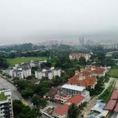 pemandangan dari regalia lantai 23 tower B