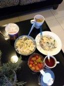salad, tomat cery dan mamee tom yam
