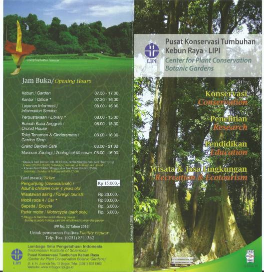 Tiket Masuk Mobil Kebun Raya Bogor